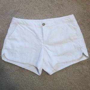 EUC Lilly Pulitzer Adie Shorts in White Eyelet